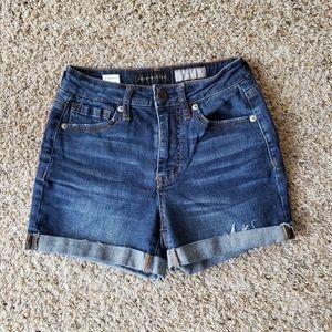 Aeropostale High Waisted Midi Cuffed Shorts